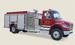 alma toyne fire fighting truck