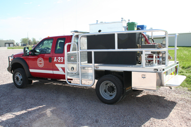 Brown County Fire Truck back view