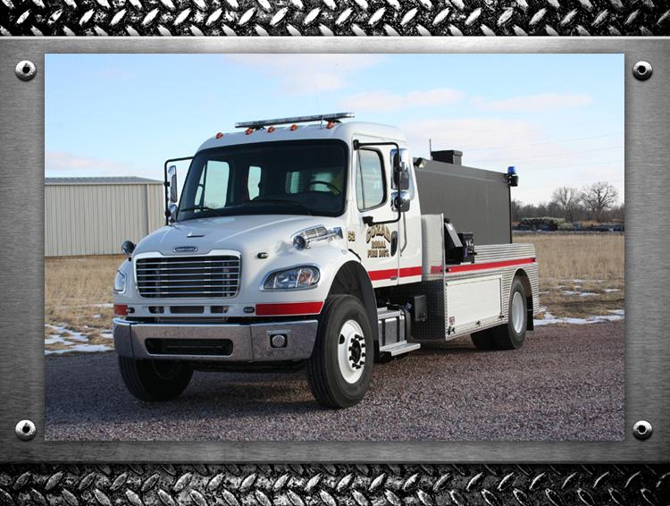 custom built fire truck tankers by Fyr-Tek for Cozad Fire Department
