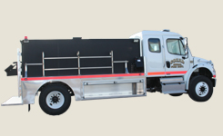 custom built fire truck tankers by Fyr-Tek for Cozad Nebraska