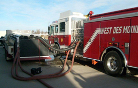 pump testing on pumpers