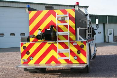 back view of the fire tanker by fyr-tek