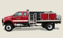 Spalding fire truck custom built by fyrtek