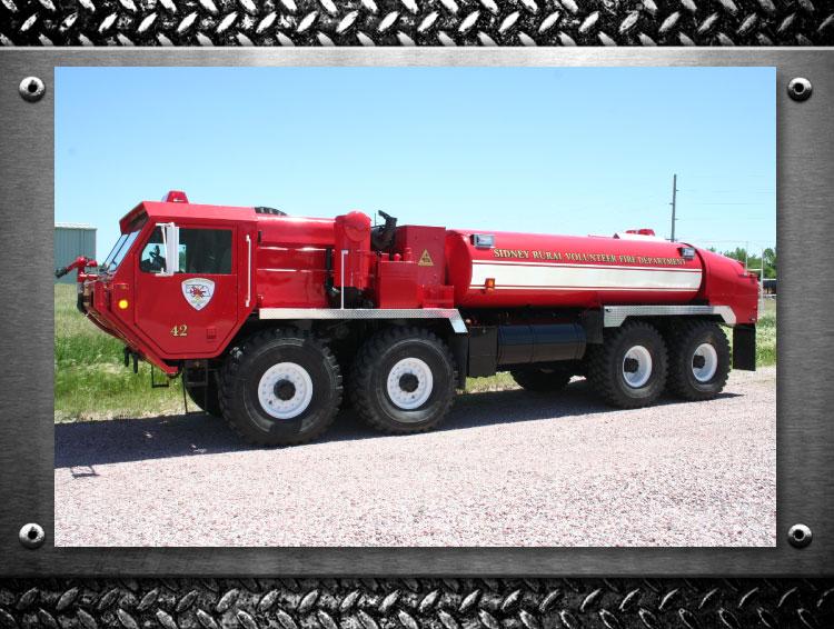 Sidney Nebraska fire truck refurbished by FYR-TEK